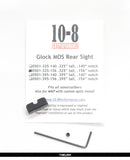 "10-8 Performance Glock MOS Rear Sight - .156"" U-Notch"