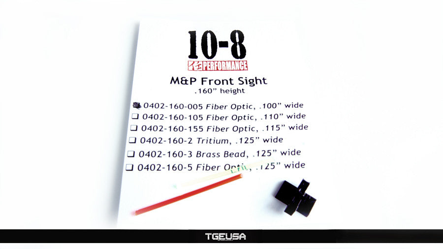 10-8 Performance M&P / Shield FIber Optic Front Sight (.160 Height / .100 Wide)