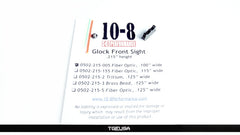 10-8 Performance Glock Front Sight - Fiber Optic  (.215 Height / .100 Wide)