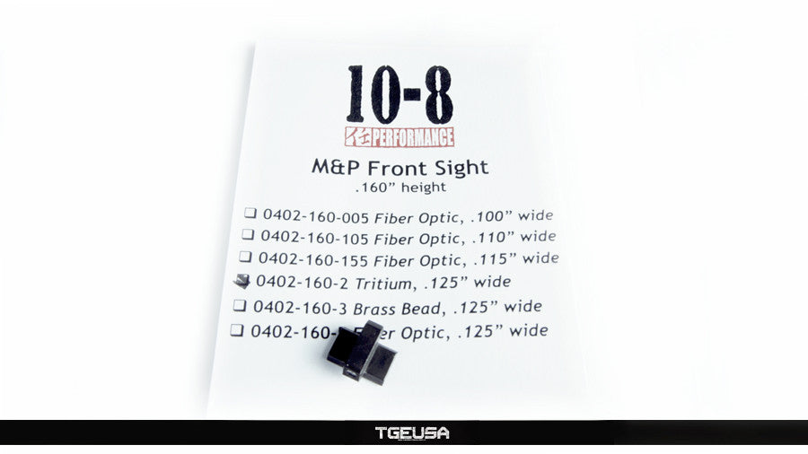 10-8 Performance M&P / Shield Tritium Front Sight (.160 Height / .125 Wide)