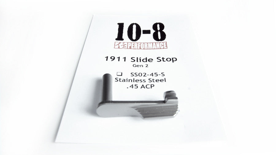 10-8 Performance 1911 Slide Stop Gen 2 (Stainless 45ACP)