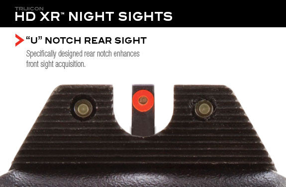 Trijicon HD XR™ Night Sights - Orange Glock 17, 19, 34