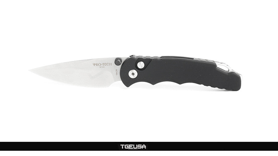 "Protech TR-5 Lerch Spring Assisted Knife Black - 3.25"" Stonewash SA.1"