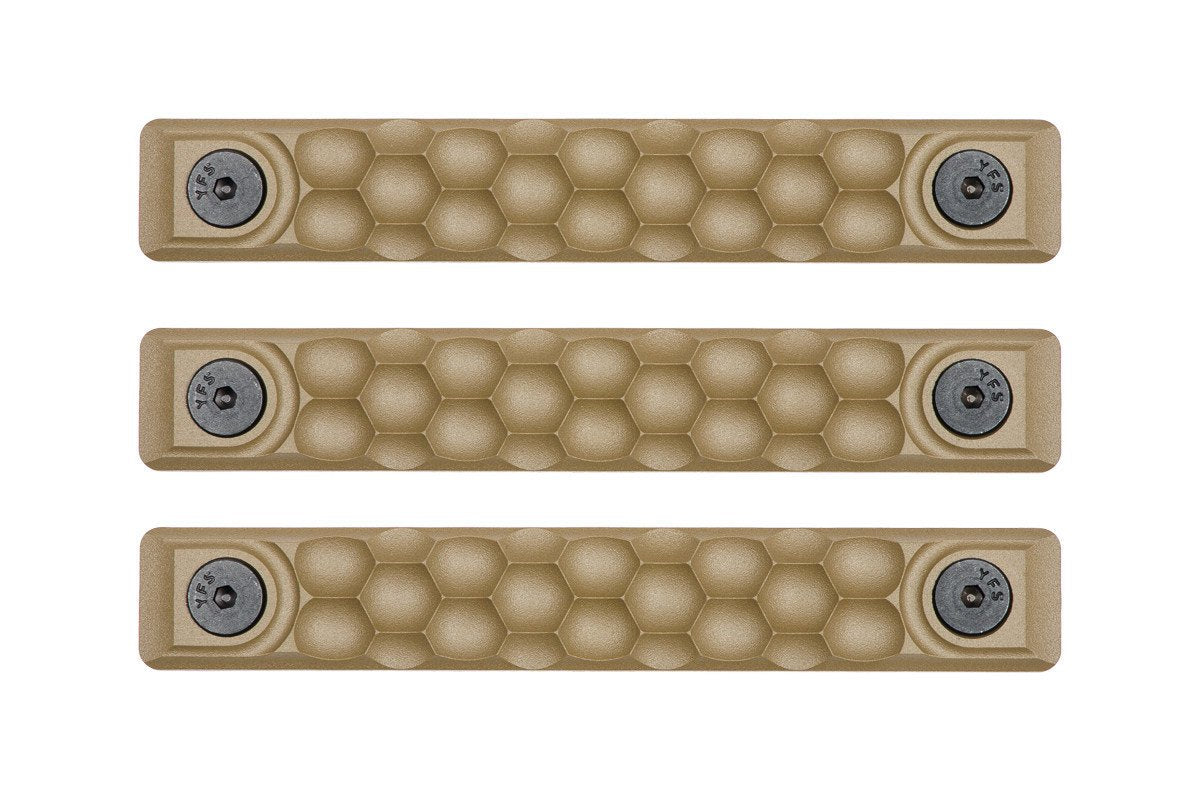 RailScales HTP M-LOK Scales - 3 Pack / Honeycomb / FDE