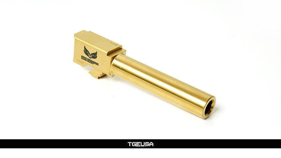 S3FSolutions Glock 19 Match Grade Barrel - Ti Nitride (GOLD)