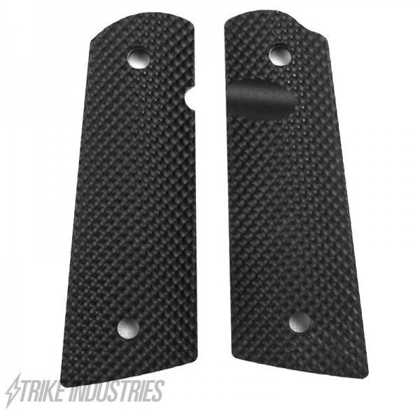 Strike Industries 1911 PX™-09 Standard Size Grips - (Golf Ball Dimple Pattern, Semi-Gloss Black)
