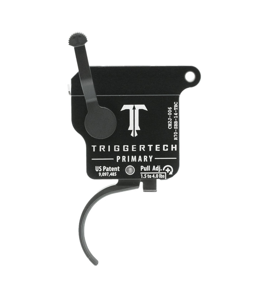 Triggertech Rem 700 Primary Trigger -  Right Hand with Bolt Release / PVD Black / Curved