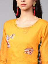Load image into Gallery viewer, Yufta Women Yellow Printed Maxi Dress