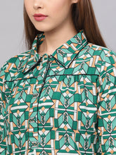 Load image into Gallery viewer, Yufta Green Printed Tunic-S-Green