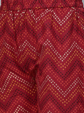 Load image into Gallery viewer, Women Maroon & Golden Printed Kurta with Palazzos