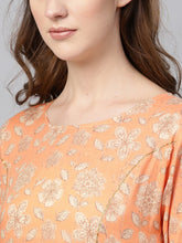 Load image into Gallery viewer, Yufta Women Orange & Green Printed Kurta with Palazzos