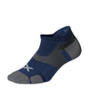 Vectr Cushion No Show Socks - Blue Steel/Grey