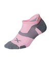 Vectr Cushion No Show Socks - Dusty Pink/Grey