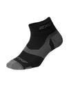 Vectr Merino Light Cushion 1/4 Crew Socks - Black/Titanium
