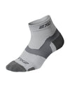 Vectr Merino Light Cushion 1/4 Crew Socks - Grey/Grey