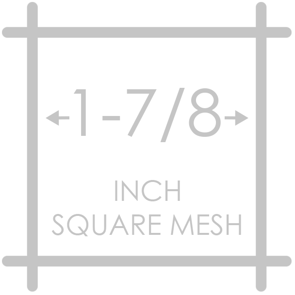 1-7/8 inch square mesh