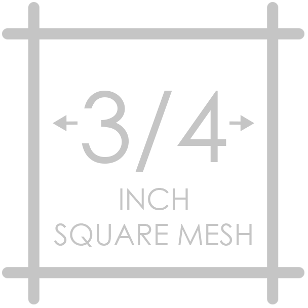 3/4 inch square mesh