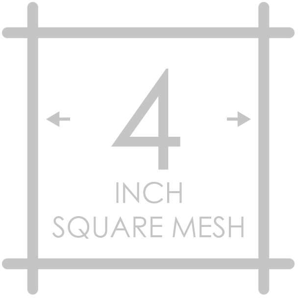 4 inch square mesh