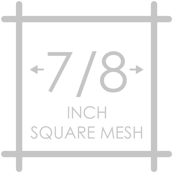 7/8 inch square mesh