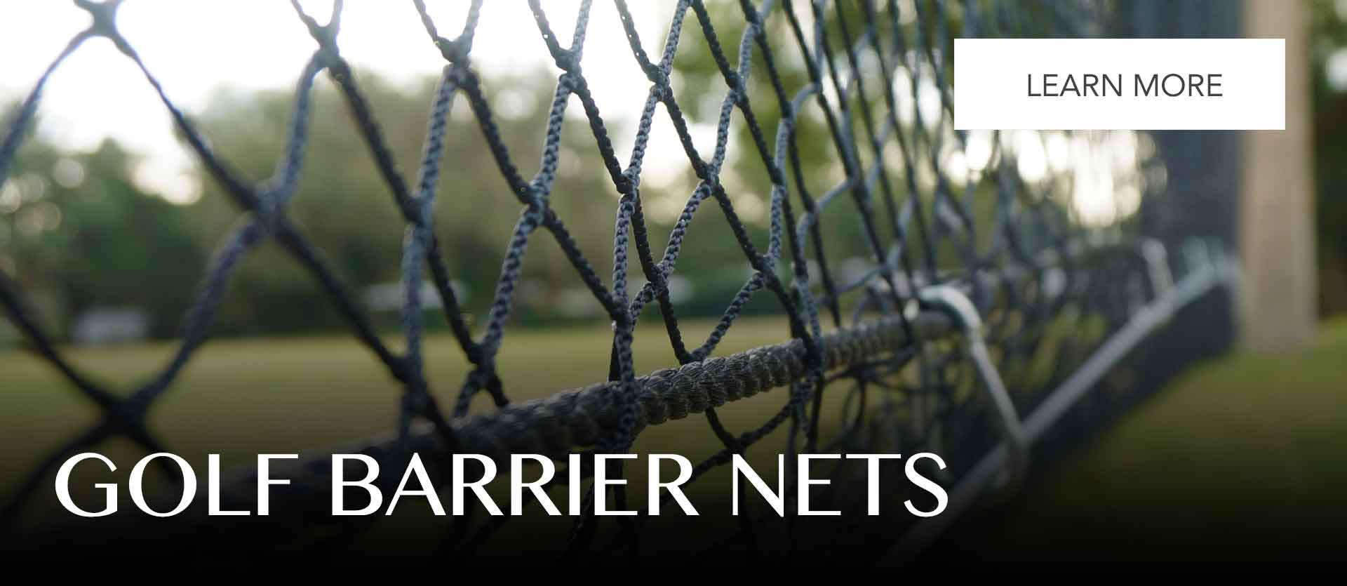 Buy professional golf range netting, made to order for your golf course, school or home.
