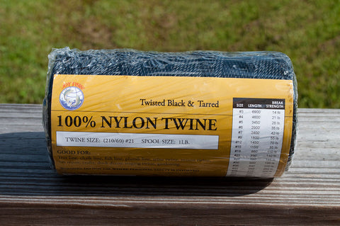 Black and Tarred Nylon Twine (1 LB Spool)