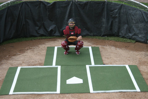 Batting Mat Pro With Catcher Extension by ProMounds