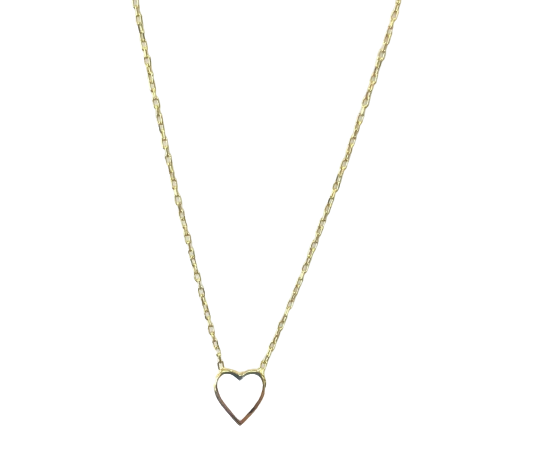 Mini Enamel Heart Necklace