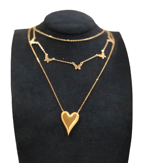 Sparkly Heart Necklace