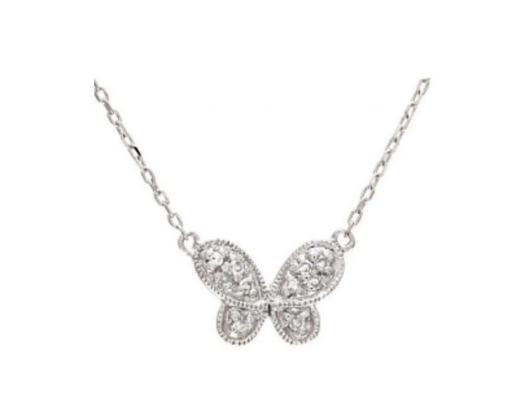 Butterfly Pave Necklace