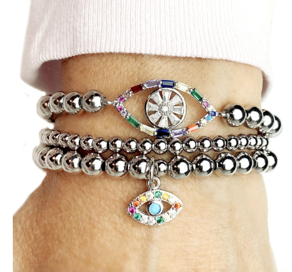 Cheryl's Colorful Chic Evil Eye Beaded Bracelet