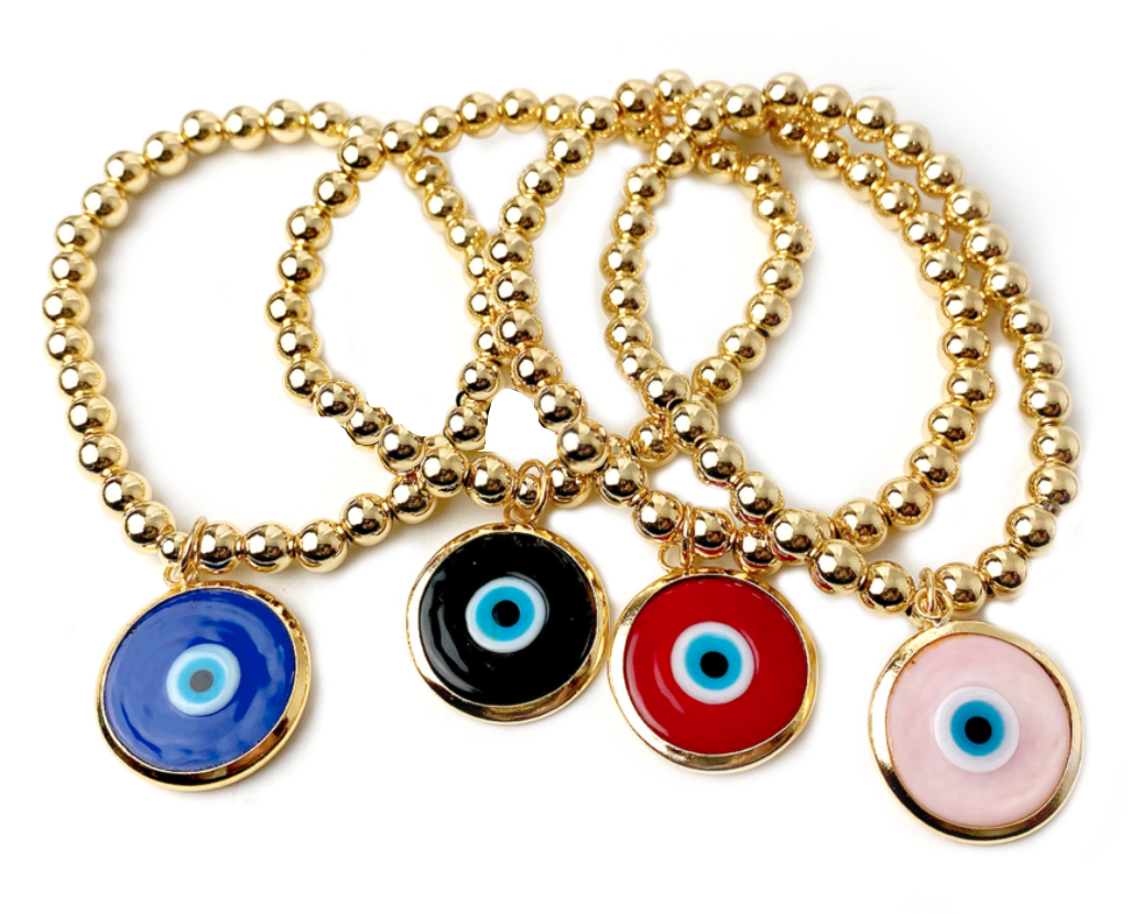 Emily's Glass Evil Eye Charming Bracelet