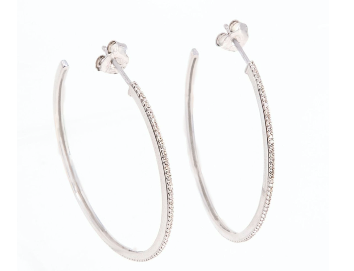 One Hot Havana Night Large Hoop Earrings