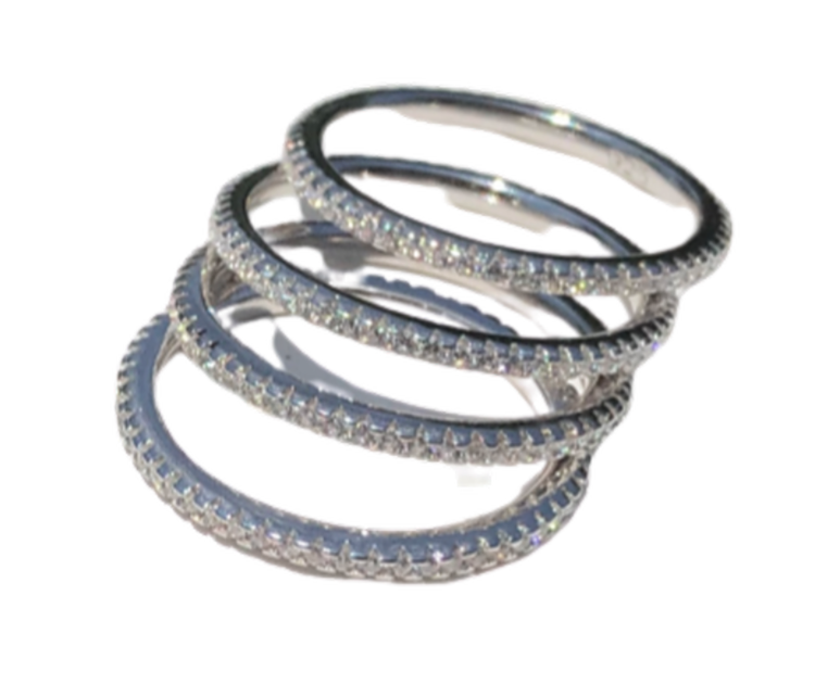 Stackable CZ Rings