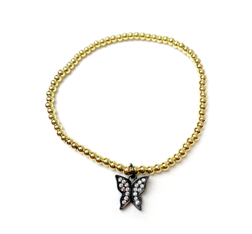 Little Butterfly Beaded Bracelet