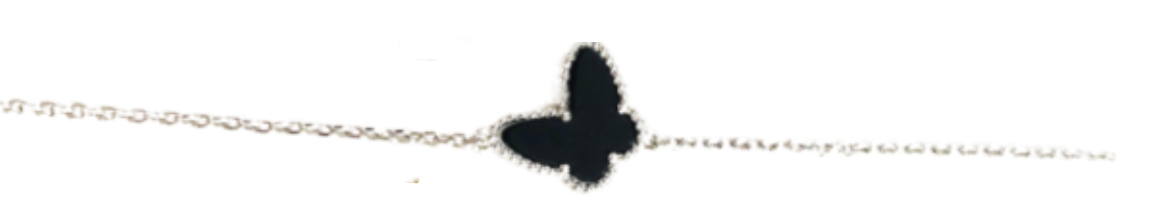 black and silver butterfly bracelet