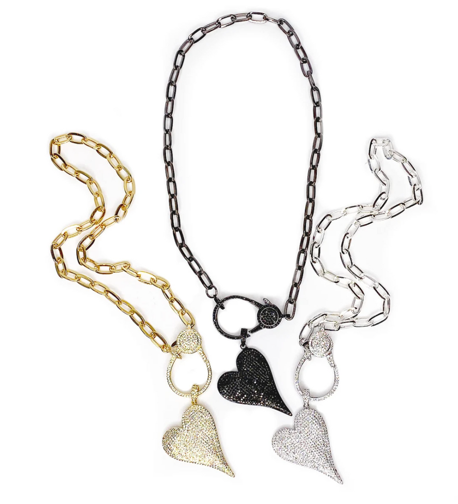 Paperclip Link Love, Lisa Heart Necklace