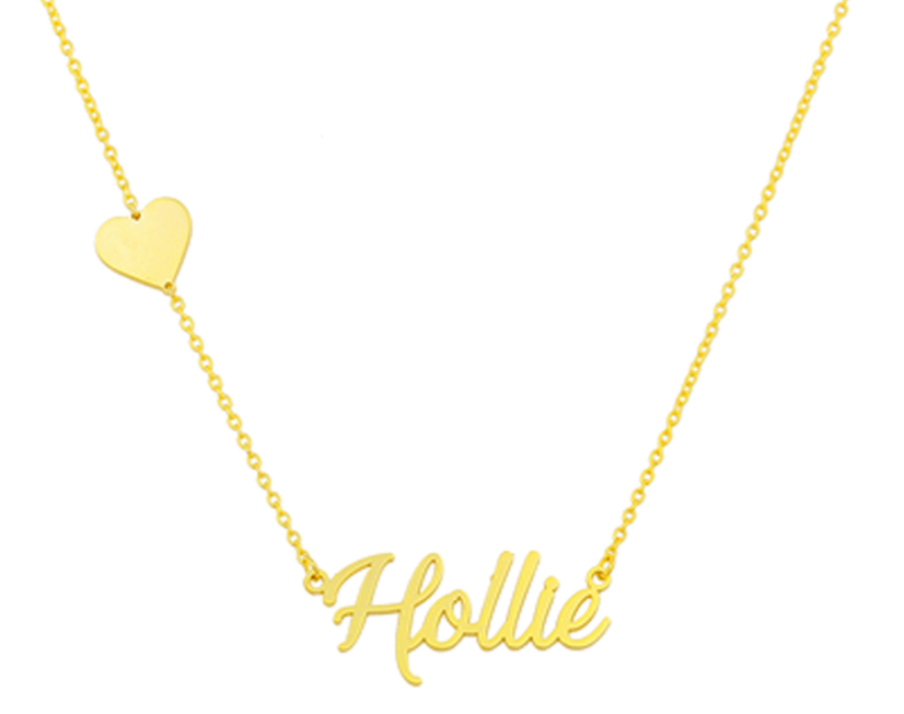 Personalized Heart and Name Necklace