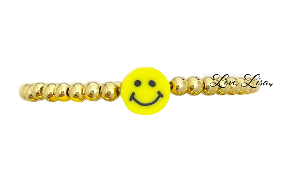 Adorable Single Gold Smiley Bracelet