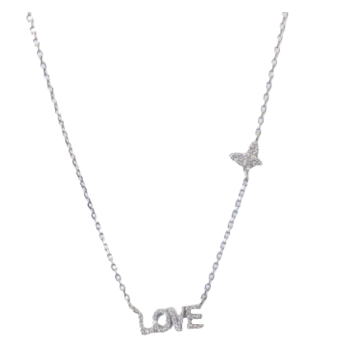 Butterfly & Love Necklace