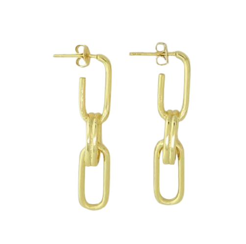 Triple Paperclip Link Earrings