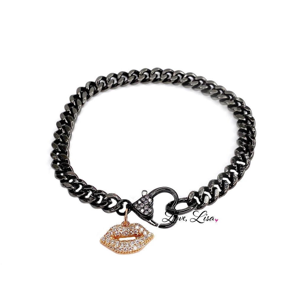 Love Chain Bracelet with Lips