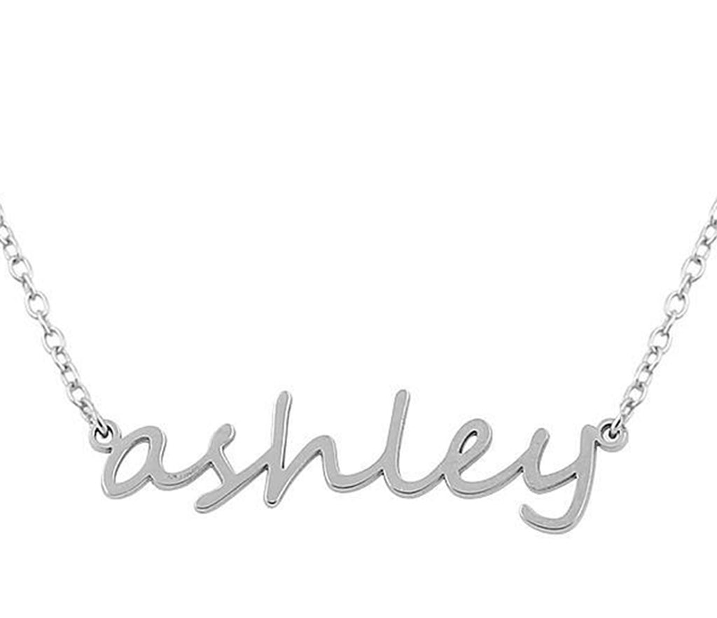 Lowercase Script Sterling Silver nameplate