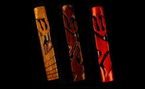 Wood Mezuzah Cases