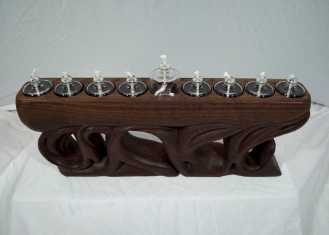 Walnut Menorah 3