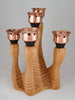 Curly Maple candelabra