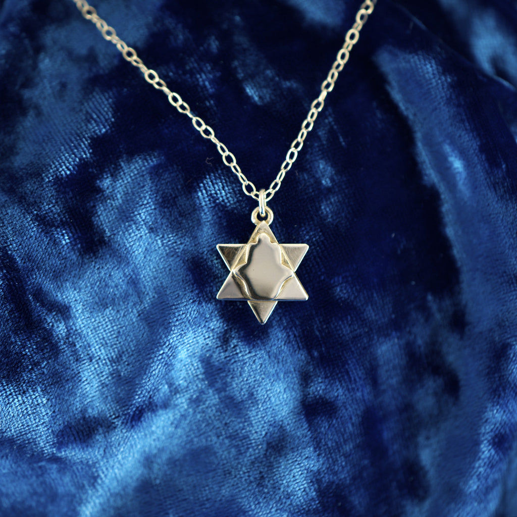 Magen Dovid (Star of David) Hamsa Necklace