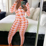 Cassi Hearts & Butterflies Long Onesie Pajama - Flexin' Swag