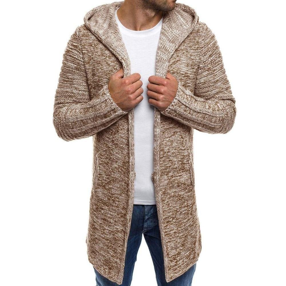 Kyle Knitted Wool Hooded Cardigan - Flexin' Swag