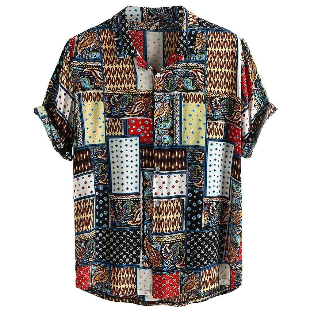 Chad Vintage Ethnic Style Printed Shirt - Flexin' Swag