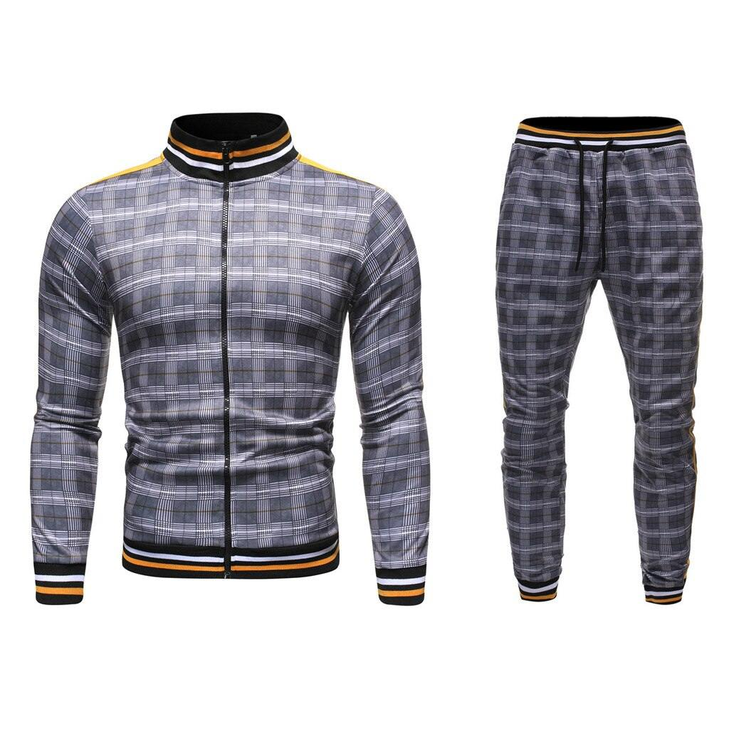 Carter Plaid Sporting Tracksuit - Flexin' Swag